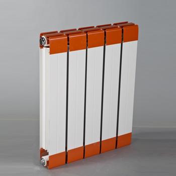 铜铝复合散热器7575-500-白+橘红